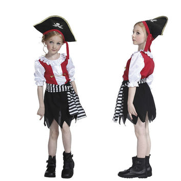 Children Europe and America Cosplay Costumes Kids  Halloween Costumes Girls Performance Dress M-1742