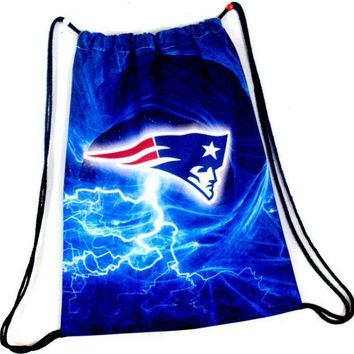 ESBON New England Patriots Drawstring Bags Men Backpack Digital Printing Pouch Customize Bags 35*45cm Sports Fan Flag