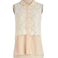 ModCloth Vintage Inspired Mid-length Sleeveless Epicurean Evening Top