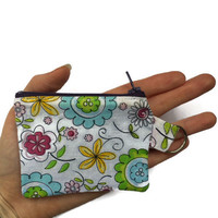 Coin Purse on Keyring, Keychain Purse, Extra Small Purse