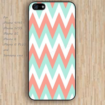 iPhone 5s 6 case colorful chevron pink blue chevron phone case iphone case,ipod case,samsung galaxy case available plastic rubber case waterproof B706