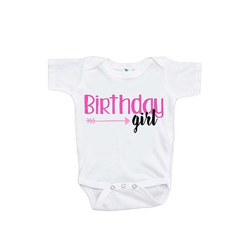 Custom Party Shop Baby Girls' Novelty Arrow First Birthday Onepiece Outfit
