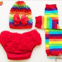 Ema Jane - Rainbow Set - Baby Legging Sets with Accessories