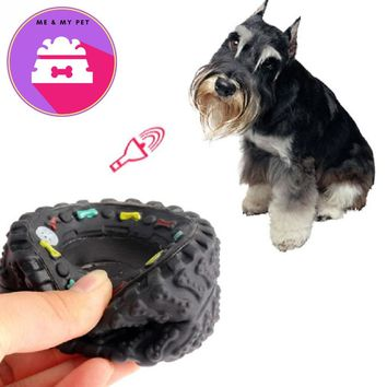 Rubber Dog's Toys Tyre Treads Tough Dog Toys Pet Chew Squeaky Toys for Dog Puppy Cat Playing Training Toys Pet Supplies