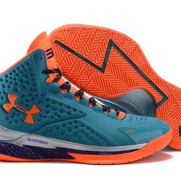 ONETOW VAWA Men's Under Armor Curry 1 Basketball Shoes Orange