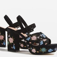 MARIGOLD Embroidered Platforms