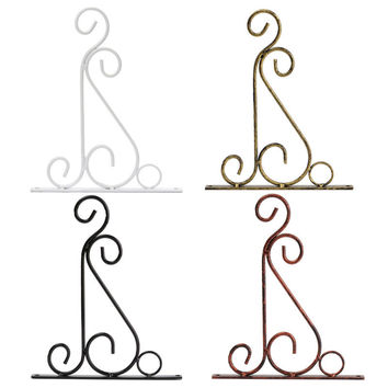 4 Colors Wrought Iron Hanging Plant Stand Flower Pot Hooks Holder Classic Romantic Landscaping Bathroom Garden Decor