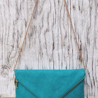 Teal Clutch Purse – Tyana's Boutique