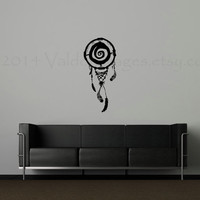 Vortex dream catcher vinyl wall decal, wall sticker, decal, vinyl decal, home decor, graphic decal, wall art