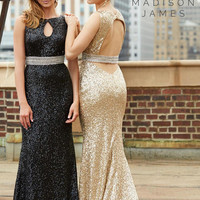Madison James 15-110 Sequin Prom Dress Evening Gown