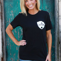 OFB Back The Blue T-Shirt ~ Black ~ Sizes 4-10