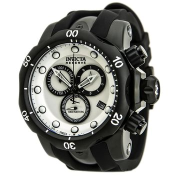 Invicta 80577 Men's Venom Quartz Chronograph White Dial Rubber Strap Dive Watch