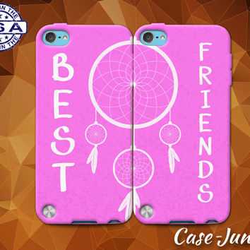 Best Friends Pair Matching Dream Catcher Pink Cute BFF Custom Case For iPhone 4 and 4s and iPhone 5 and 5s and 5c and iPhone 6 and 6 Plus +