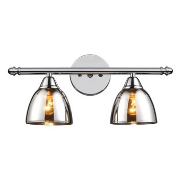 Reflections 2-Light Vanity Lamp in Polished Chrome with Chrome-plated Glass