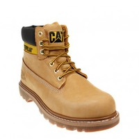 CATERPILLAR COLORADO UNISEX HONEY BROWN LEATHER BOOTS - UNISEX BOOTS - TOWER LONDON