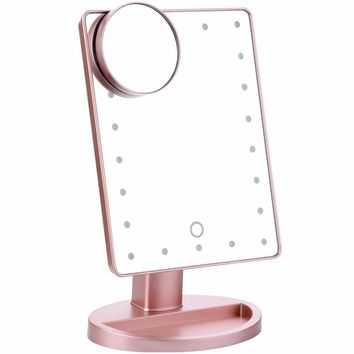 Touch Screen LED Vanity Makeup Mirror