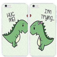 New Mini Dinosaur Best Friends Loves Two Cover Case For Apple iphone 6 6S/6 Plus