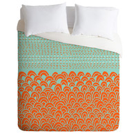 Budi Kwan The Infinite Tidal Light Blue Duvet Cover