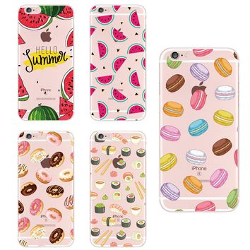 Food Fruit Coffee Pineapple Lemon Banana Cactus Strawberry Sushi Phone Case Cover For Apple iPhone5 6 7Plus 8 8PLUS For SAMSUNG