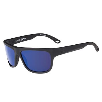 Spy - Angler Soft Matte Black Sunglasses, Happy Bronze Polar W/ Dark Blue Spectra Lenses