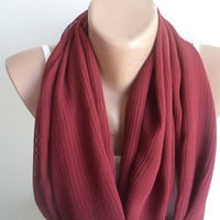 Infinity Scarf, Scarf, Burgundy tassels Scarves, scarf, Spring Accessory, women scarf, mothers day gifts, women accessories