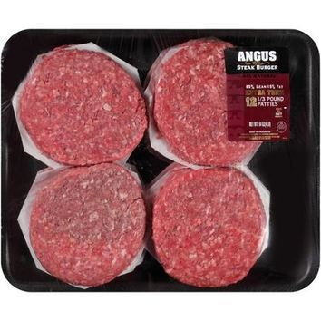 Angus Beef Patties 85% Lean, 4 lbs - Walmart.com