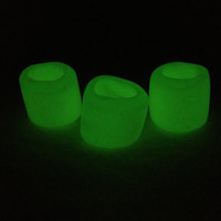 Glow-In-The-Dark Polymer Dread Beads