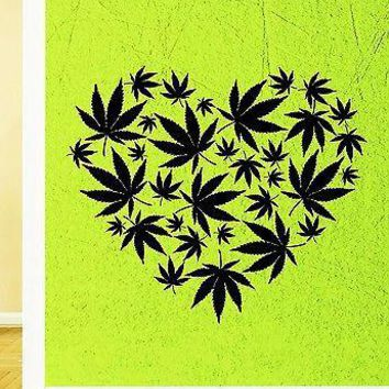 Wall Sticker Vinyl Decal Rastafarian Cannabis Marijuana Smoking Unique Gift (ig1898)