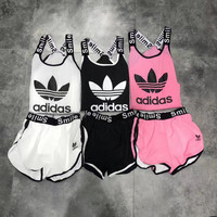 Adidas Fashion Women Casual Sportswear Three-Piece