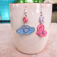 Happy Heart and Cloud Anime Shrinky Dink by CaliLilyTreasureCo