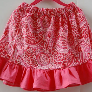 Summer skirt toddler girl skirt  baby clothing  lightweight skirt  simple skirt  twirl skirt childrens tropical cotton skirt  pull on