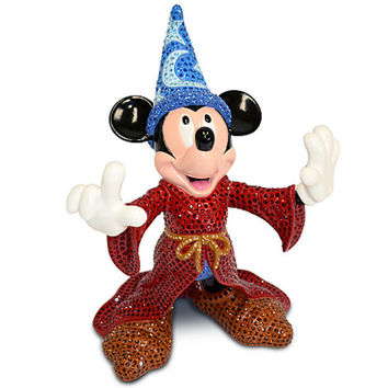 Disney Fantasia Sorcerer Mickey Mouse Jeweled Figurine by Arribas New LE 500