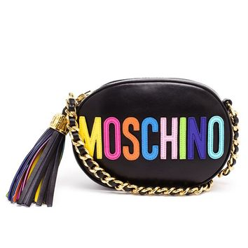 Leather Shoulder Bag - MOSCHINO