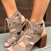 Finding My Way Booties: Taupe
