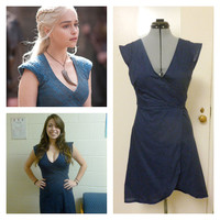 Game of Thrones - Daenerys Targaryen Blue Wrap Dress - Every Day Wear
