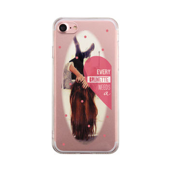 Brunette Best Friend Phone Case Cute Clear Phonecase