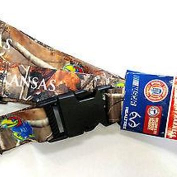 Kansas Jayhawks CAMO RR Deluxe 2-sided Lanyard Breakaway Keychain University of