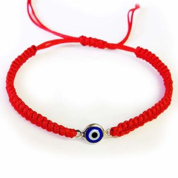 Evil Eye Rope Bracelet w/ Turkish  Nazar Fashion Jewelry #2911
