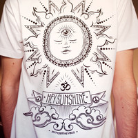 HEY SUNSHINE - spiritual yoga man t-shirt