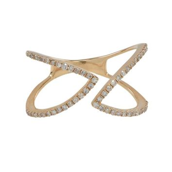 Open Double Angled Diamond Ring