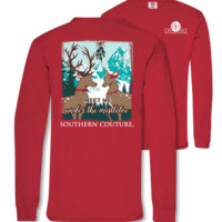Southern Couture Under the Mistletoe Holiday Comfort Colors Long Sleeve T-Shirt