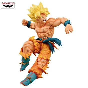 "Japan Anime ""Dragon Ball Z"" Original Banpresto MATCH MAKERS vol.1 Collection Figure - SUPER SAIYAN SON GOKOU Goku"