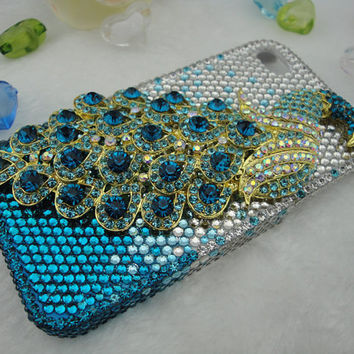 Iphone 4 Case  Swarovski Crystal Iphone Case Lovely 3D by tilroom