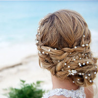 Wedding Pearl Head Chain, Bridal Headband, Pearl Headband, Wedding Hair Accessories, Bridal Hair Accessories