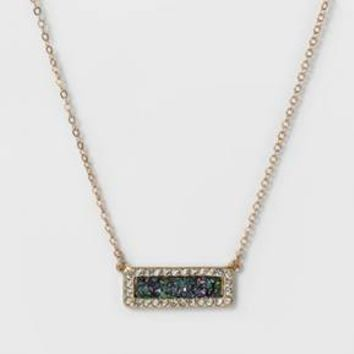 SUGARFIX by BaubleBar™ Druzy Bar Necklace with Pavé Gift Set