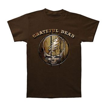 Grateful Dead Men's  Dead Brand T-shirt Chocolate Rockabilia