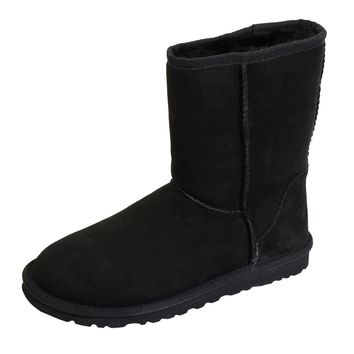UGG BOOTS CLASSIC SHORT II WOMENS BLACK SHEEPSKIN BOOT