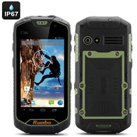 Runbo Q5 S Android Rugged Smartphone - IP67 Rating, Gorilla Glass Screen, Quad Core, 1GB RAM, 8GB Memory, Walkie Talkie (Green)