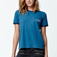 Vans Ink Insign Cropped Ringer T-Shirt - Womens Tee - Blue
