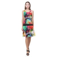 Color Cacophony Sleeveless Splicing Shift Dress(Model D17) | ID: D917047